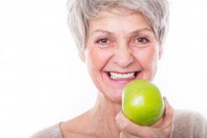 woman apple