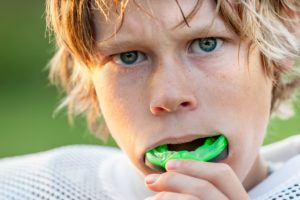 kid with mouthguard