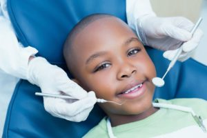little boy at dental appointment