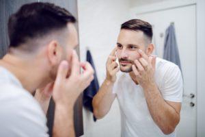 man considering botox for men in attleboro